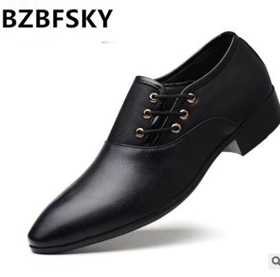 BZBFSKY Tangnest Luxury Brand Men Oxford Flats Pu Leather Male's Elevator Shoes Solid Slip-on Men Formal Dress Shoes Size 37~44 new fashion autumn solid color men shoes leather low slip on men flats oxford shoes for men driving shoes size 38 44 yj a0020