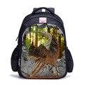 3D Animais Do Jardim Zoológico Mochilas Escolares para Meninos Dinossauro Schoolbag Bookbag Criança Crianças mochilas Mochila escolar infantil 16 Polegada