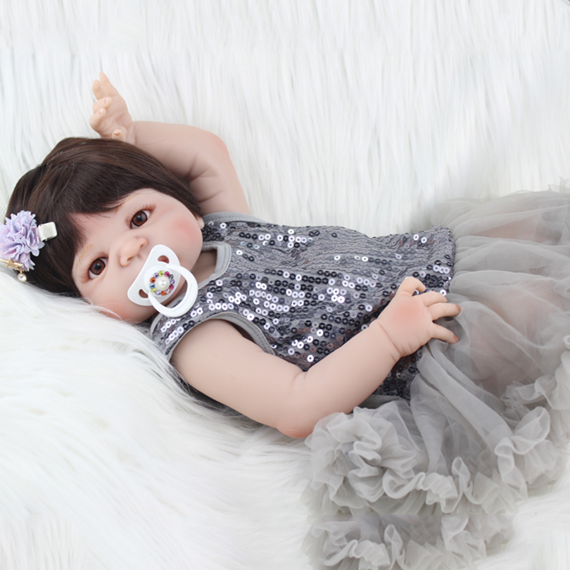 55cm Full Silicone Reborn Baby Doll Toy 22inch Princess Toddler Babies Alive Victoria Doll Cute Girl Bonecas Child Birthday Gift55cm Full Silicone Reborn Baby Doll Toy 22inch Princess Toddler Babies Alive Victoria Doll Cute Girl Bonecas Child Birthday Gift