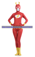 Индивидуальный заказ флэш супергерой Zentai костюмы для косплея полный Костюмы для тела костюмы на Хэллоуин Облегающий комбинезон из синтети...