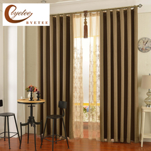 [byetee] Window Curtain Fabrics Cotton Linen Full Shading Kitchen Blackout Curtains Doors For Living Room Bedroom Drapes