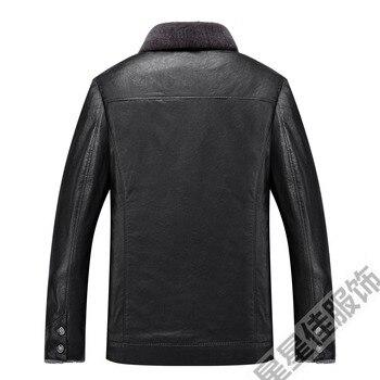Big size 10XL 8XL 6XL Men Genuine Leather Coat sheepskin men's short Jacket leather winter jackets mens Free Shipping Plus Size