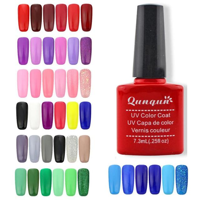 Cool! 7.3ML Nail Gel Polish UV LED Shining Colorful 6 Colors Polish Nail Glue 2 weeks or above Anne