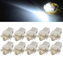 10x 12V High Quality T5 B8.5D 1SMD LED Interior Dome Dashboard Panel Side Light Bulb White Auto Indicator Lamp