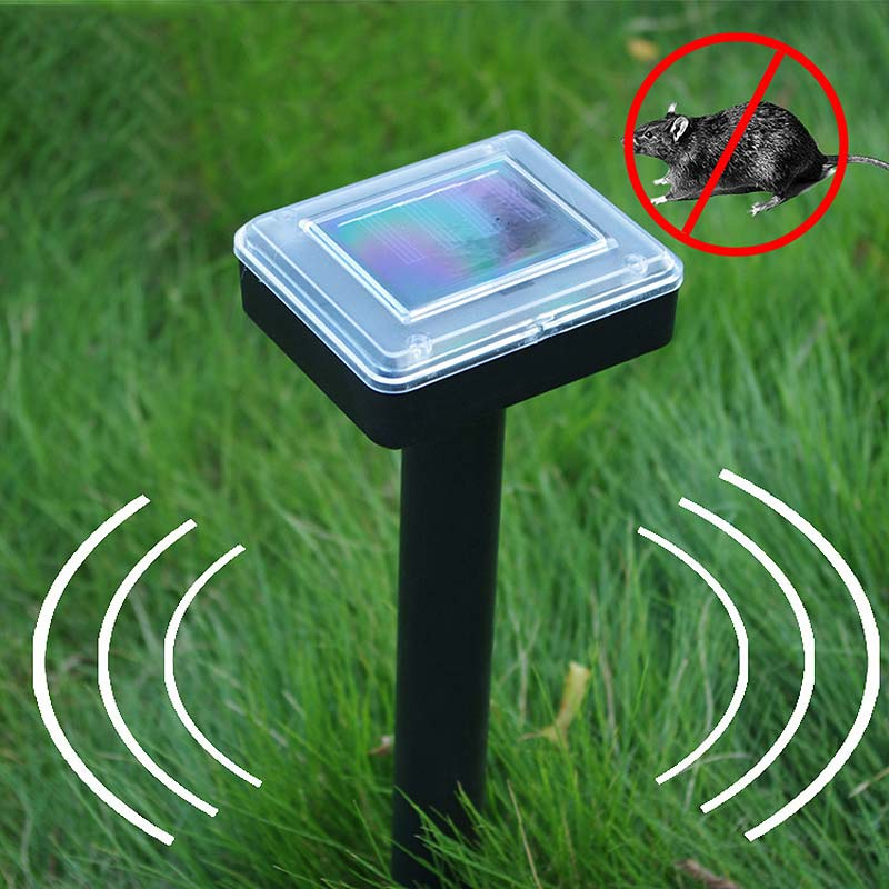 Hot New Solar Powered Ultrasonic Sonic Mouse Mole Pest Rodent Repeller Repellent Control for Garden Yard MDD88(China)