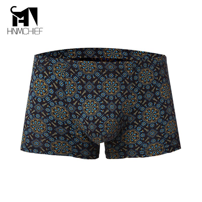 Mens underwear boxers brand Hot Wholesale Underpants Bacterial Breathable Shorts Male Sexy Modal Printing Underwear Sweat