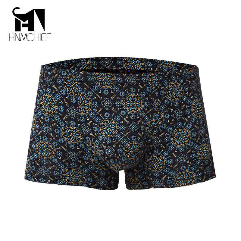 Boxers roupa interior dos homens marca Quente Por Atacado Cuecas Anti-bacteriana Respirável Shorts Masculino Sexy Modal Cueca Impressão Suor