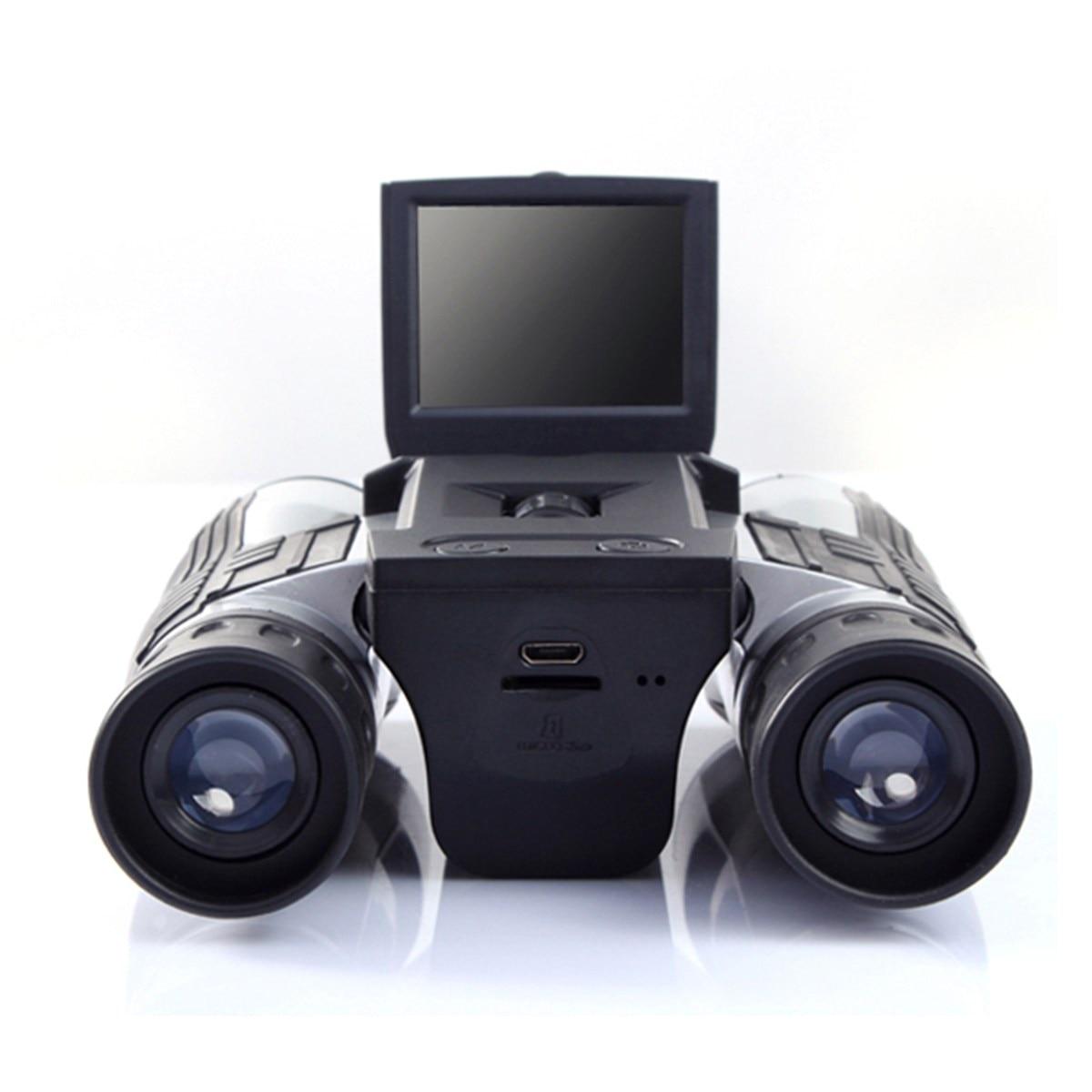 12x32 1920X1080 p Full HD Vidéo Caméra Télescope Binoculaire Avec 2 pouces Écran En Plein Air camping oiseau regarder chasse randonnée
