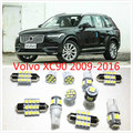 Car interior lights set lights White LED Lights Interior Package Map Dome For Volvo XC90 XC70 XC60 C30 S60 S40 2009-2016