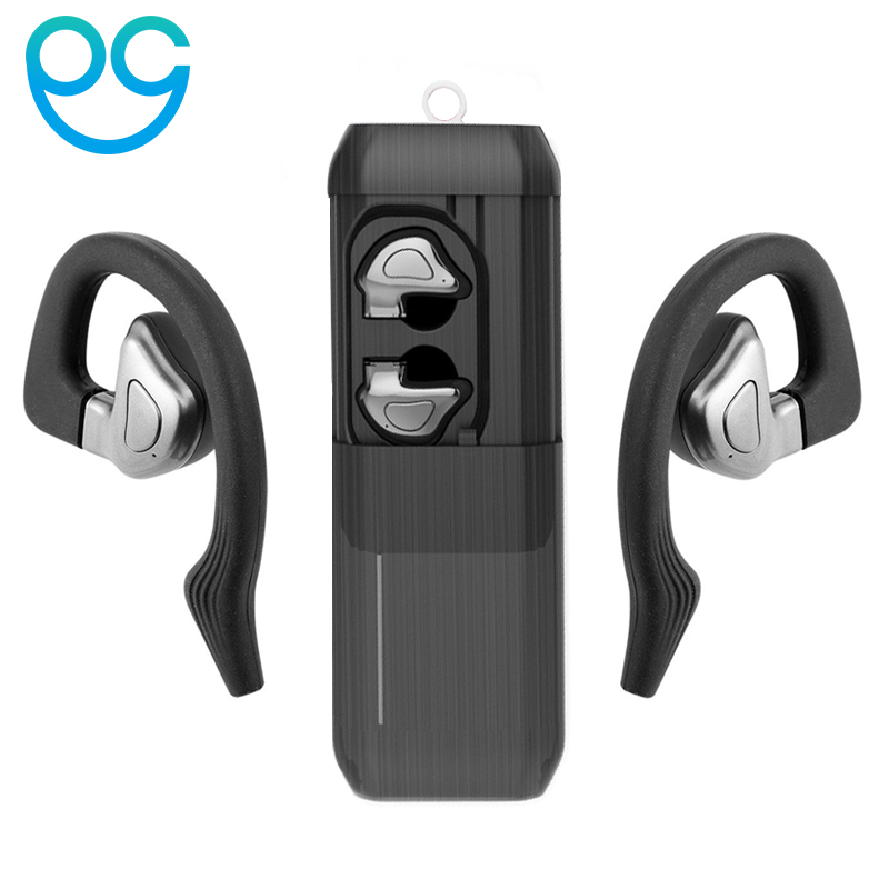 OGV TWS Invisible Mini Headphones 3D Stereo Hands-free Noise Reduction Bluetooth Headset Wireless Earphones and Power Bank box remax tws bluetooth earphones wireless 3d stereo headphones headset and power bank with microphone handsfree calls