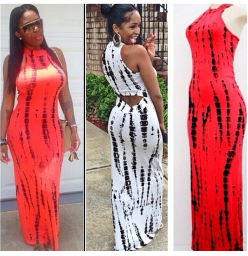 Back cut out maxi dresses