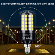 E27 Led Corn Bulb E14 220V Led Lamp SMD 5736 Led Light 5W 7W 9W 12W 15W 20W Bombillas 85-265V No Flicker Lights For Living Room luo gu10 12w 1000lm 6500k 24 x smd 5630 led white light bulb silver transparent 85 265v