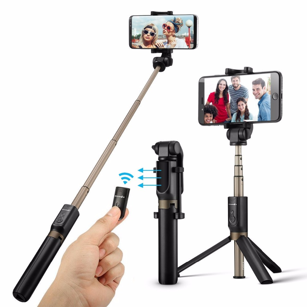 Ulanzi Pocket Bluetooth Selfie Stick Tripod Smartphone Mini Video Tripod Monopod for iPhone 7 8 Samsung Huawei Xiaomi Gopro 5