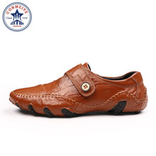 Men Shoes Casual 2017 New Spring Autumn Fashion Genuine Leather Men's Loafers  Driving Shoes  Male Footwear Size 38-44