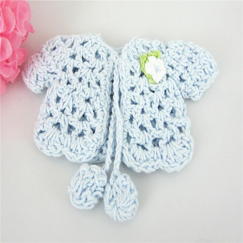 12pcs Mini Miniature Crochet Sweater Flower Baby Shower Baptism