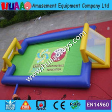цена на 2017 New Inflatable Football Pitch Inflatable Soap Football Free Shipping