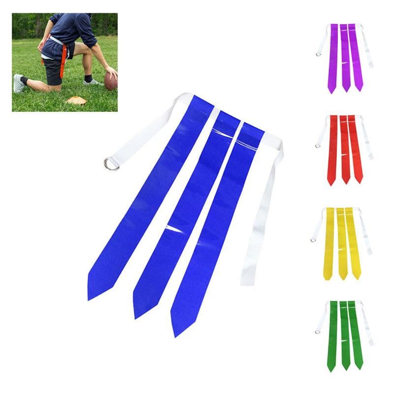 2019 Flag Football Belt Durable Webbing Belt PVC Waist Flag 5 Color Footaball Waist Flag Belt American Football Flag