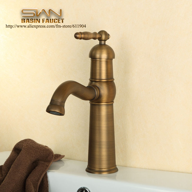 Free Shipping Brass Bathroom Faucet Lavatory  Bar Vessel Sink Basin faucet Mixer Taps Swivel Spout Cold Hot Water Taps