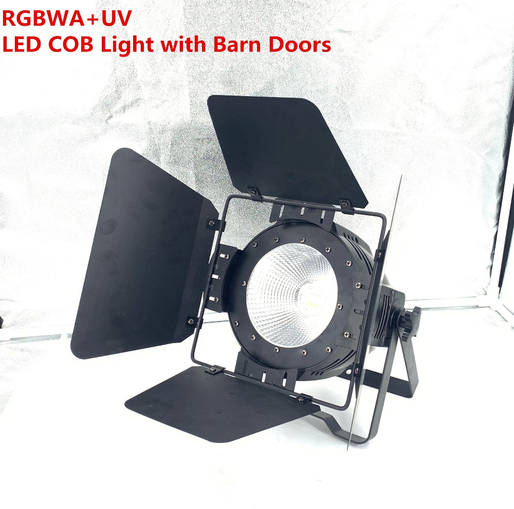 LED COB Par light 200W RGBWAUV 6in1 Warm White3200K Cool white7500K Stage Lighting Clubs Luces Discoteca Disco With Barn DoorsLED COB Par light 200W RGBWAUV 6in1 Warm White3200K Cool white7500K Stage Lighting Clubs Luces Discoteca Disco With Barn Doors