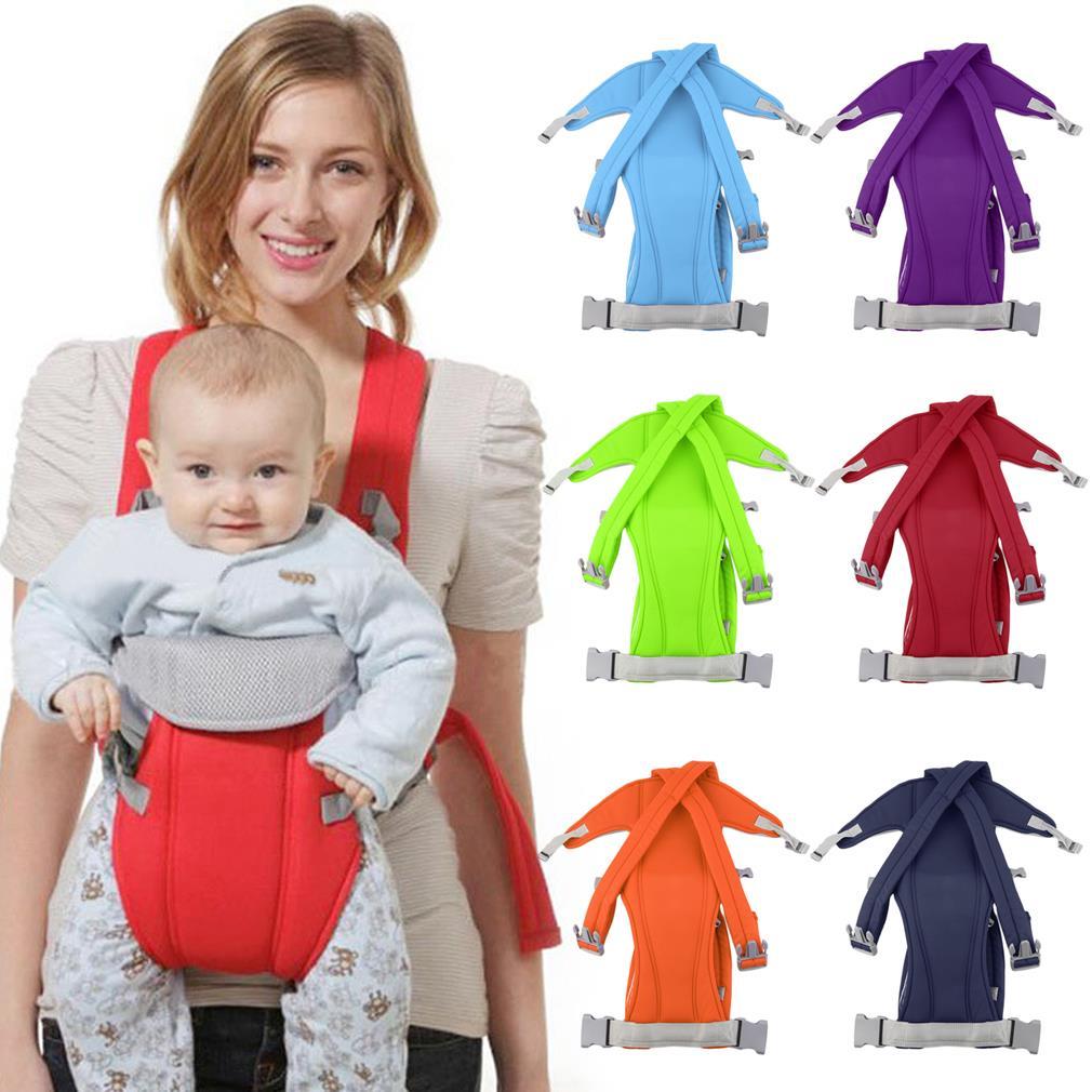 Comfortable 3-16 Month Adjustable Infant Baby Carrier Sling Wrap Rider Backpack Front/Back Pack Soft Multiple Carrying