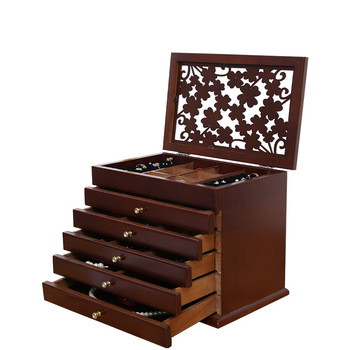 New Flower Wood Jewelry Box Gift Box