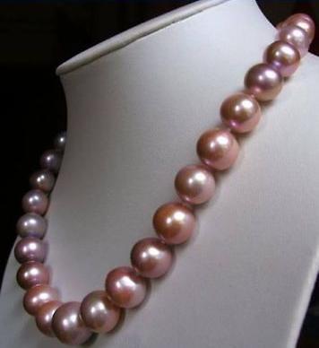 Magnifique collier de perles violettes Akoya de 18 pouces 9-10 MMMagnifique collier de perles violettes Akoya de 18 pouces 9-10 MM