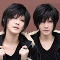 new! 30cm wig Cosplay Short Black Wig free shipping