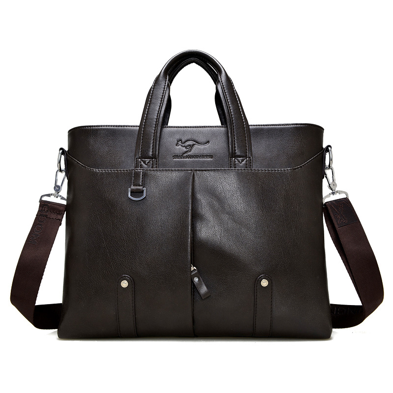 Men Cross Casual Soft Briefcase Business Shoulder Leather Messenger Bags Computer Laptop Handbag Men's Travel Bags Handbags