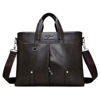 Men Cross Casual soft Briefcase Business Shoulder Leather Messenger Bags Computer Laptop Handbag Men's Travel Bags handbags Briefcases