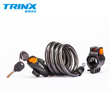 TRINX 1.2m Anti Theft Bike Lock Steel Wire Safe Lock Bicycle Lock quality MTB Road Security Steel Cabl Bike Lock with 2 Keys цены онлайн