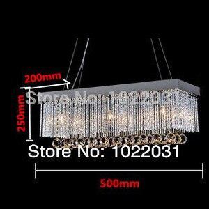 Image 5 - 6 bulb K9 crystal Chandelier popular design square New modern 90V ~260V E14 crystal lights Factory price  Bedroom lamp Hall