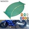 Motorcycle Wheel Sticker Reflective Decals Rim Tape Strip For yamaha xt 600 mt10 mt 09 09 tracer suzuki drz/ltz 400 Accessories