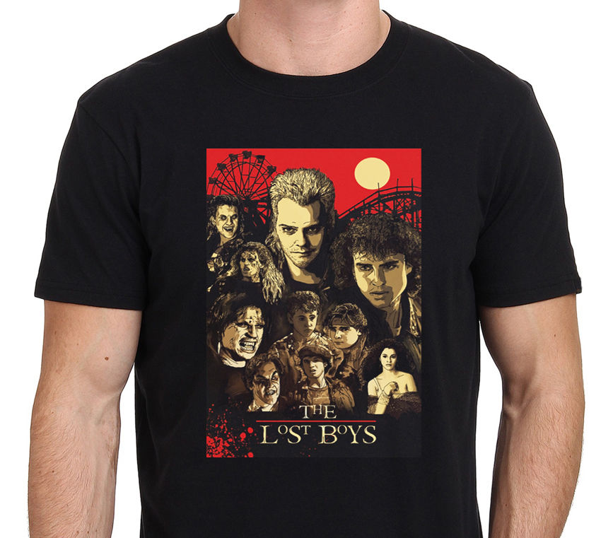 New The Lost Boys 80S Horror Movie Art Poster T Shirt Size S To Xxl image