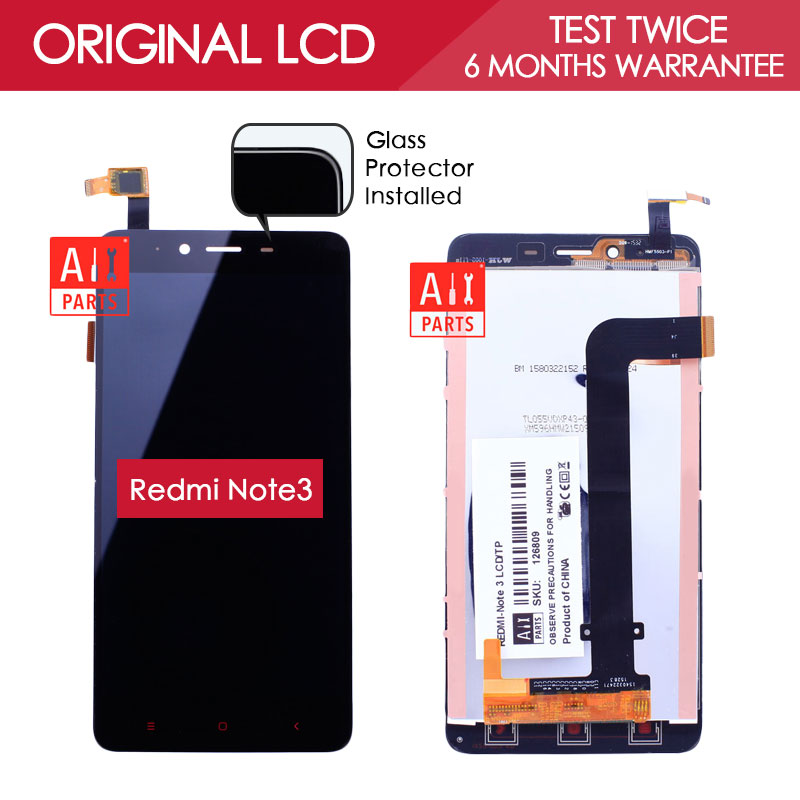 5 5 inch 100 Tested Original Black Gold White 1920x1080 Display For XiaoMi RedMi Note 3