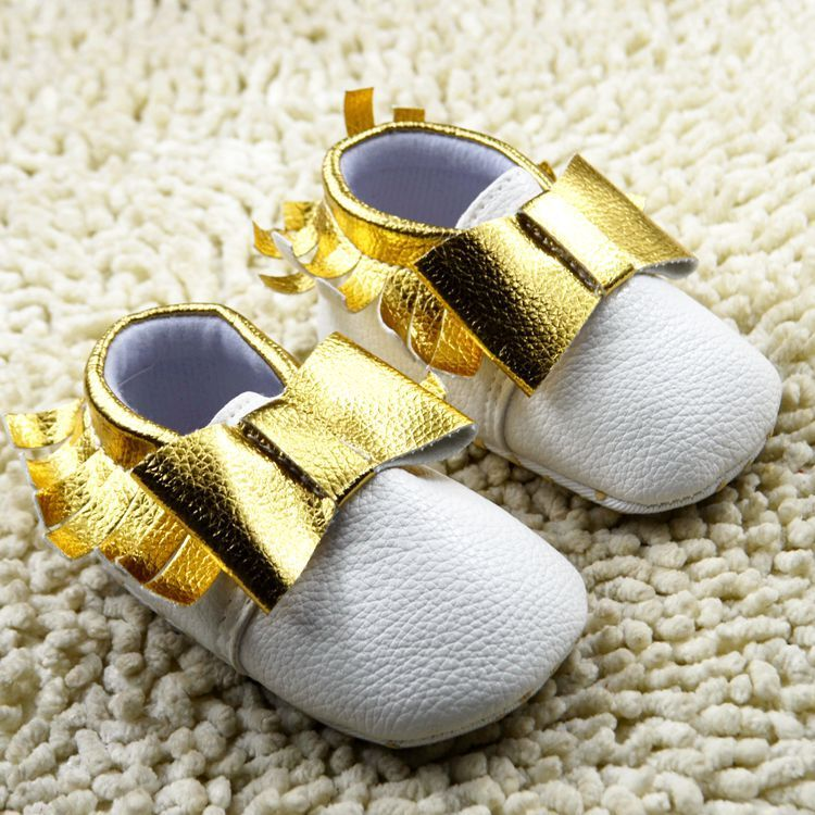 Spring New Fringe Genuine Leather Baby Moccasins shoes bow Baby soft sole Shoes First Walker Chaussure Bebe infant shoes
