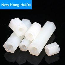 M4 White Hex Nylon Standoff Male Female Plastic Mount Hexagon Threaded PCB Motherboard Spacer Pillar Boards Bolt Screw Nut M4*L цены