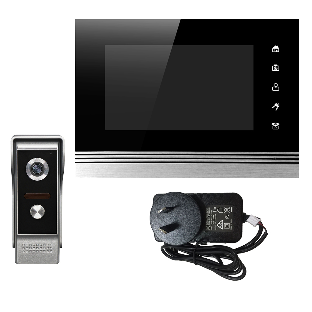 Wired 7 Inch LCD Video Door Phone Doorbell Home Intercom System IR Night Vision Camera 1-Monitor AU Plug 7 inch color tft lcd wired video door phone home doorbell intercom camera system with 1 camera 1 monitor support night vision