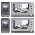 DIYSEUCR 2 Камеры 2 Монитор 7 дюймов Видео-Телефон Двери Домофон Введите громкой ID Разблокировки Ночного Видения камера