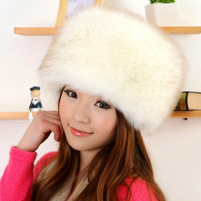 Free Shipping 2016 New Fashion Velvet Winter Warm Dome Caps Faux Fox Fur Hat Fake Mink Fur Hats For Women Skullies Beanies Bone