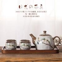 Chinese casa xícara de cerâmica bule bule de chá kung fu jogo de chá da tarde chá de leite chá Japonês fresco água quente cerâmica chaleira|Jogos de chá| |  -