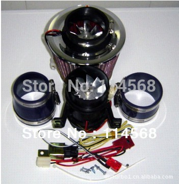 Turbo-5000 Electric Supercharger 330W Electric turbocharger kit Metal wheel (two Motor ) have in stock fast air ship