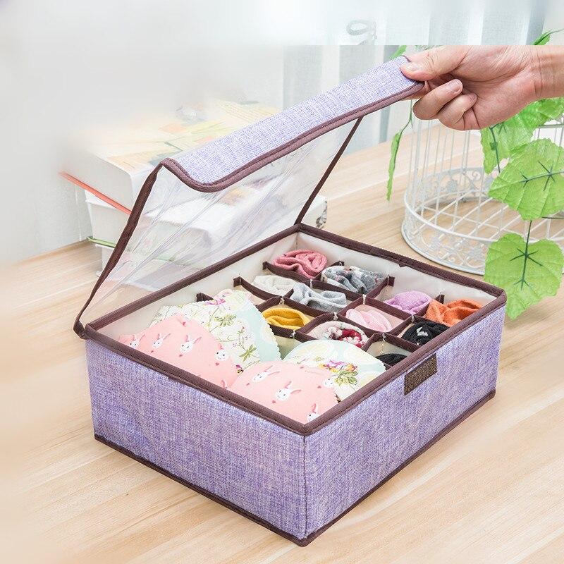 New Non Woven Fabric Folding Underwear Storage Box Bedroom: Bedroom Organizer Storage Box Wardrobe 13 Grids Stroage