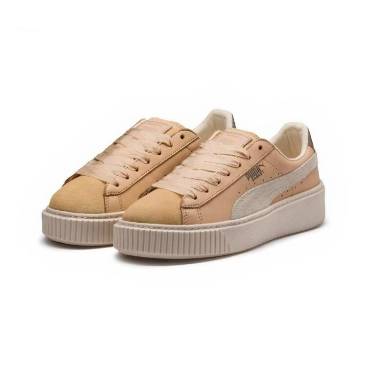 best website 6a845 b08ed Original PUMA x FENTY Suede Cleated Creeper Women's Second Generation  Rihanna Classic Basket Suede Tone Simple Badminton Shoes