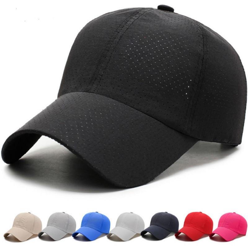 Unisex Baseball Cap Trucker Hat Blank Curved Hat Mesh Cap Quick-drying Cap