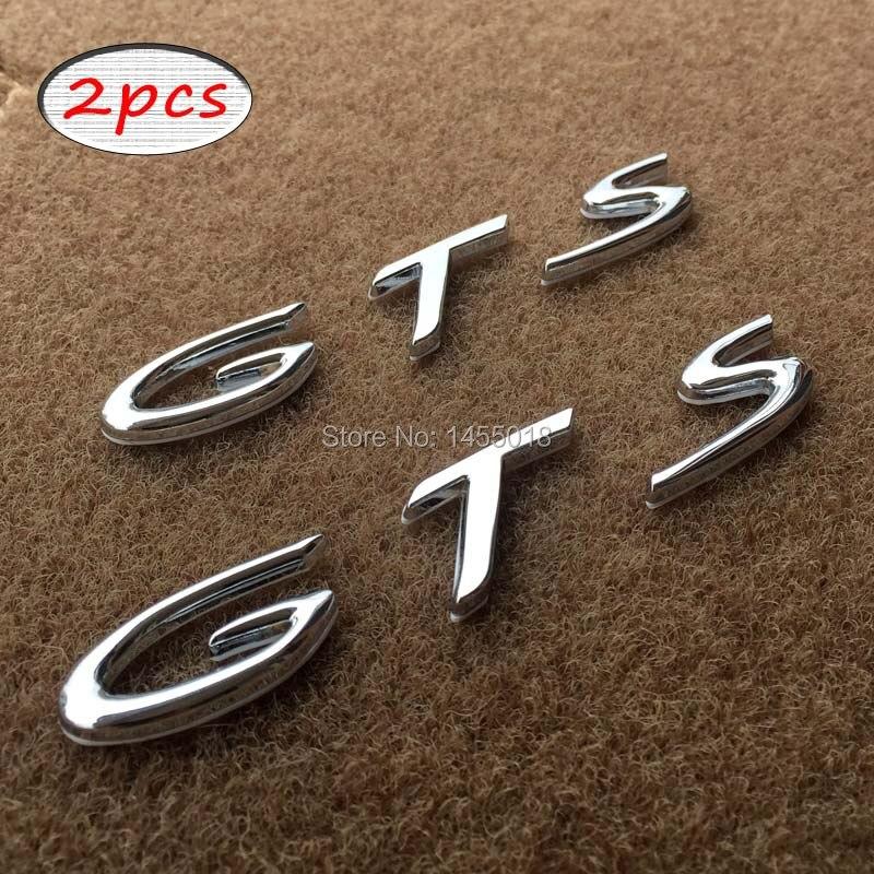 カースタイリング3dメタルgts手紙再取り付けエンブレムテールバッジステッカー用ポルシェカイエンmacan