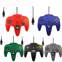 USB Wired Controller Para Nintendo N64 Juego Wired Gamepad Joypad Joystick Para Gamecube N64 64 UNID Negro Para Mac Juego de Accesorios