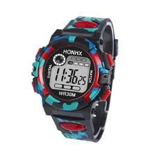 5e3f207d94b2 HONHX multifunción niños relojes digitales niños niñas Niño de electrónica  deportes Reloj de pulsera niños LED