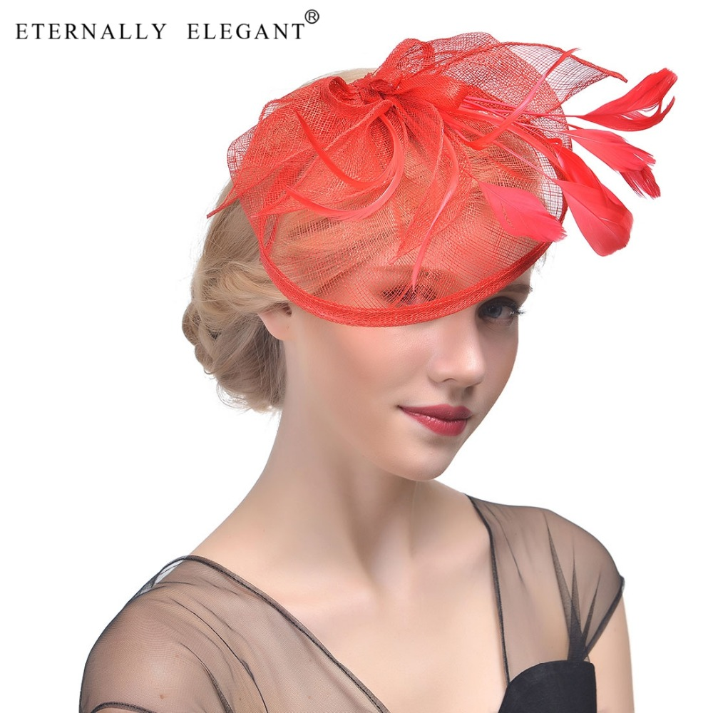 2018 Vintage Feather Wedding Cocktail Hair Bridal Great Gatsby Headpiece For Fascinator Wedding Party EL2406