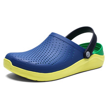 2019 Men Sandals Crocks LiteRide Hole Shoes Crok Rubber Clogs For Men EVA Unisex Garden Shoes Black