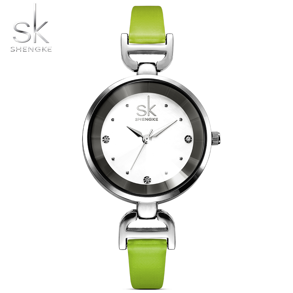 Shengke New Fashion Brand Leather Strap Diamond Quartz Women Watches Ladies Dress Wristatches Female Casual Girl Watches 2017Shengke New Fashion Brand Leather Strap Diamond Quartz Women Watches Ladies Dress Wristatches Female Casual Girl Watches 2017
